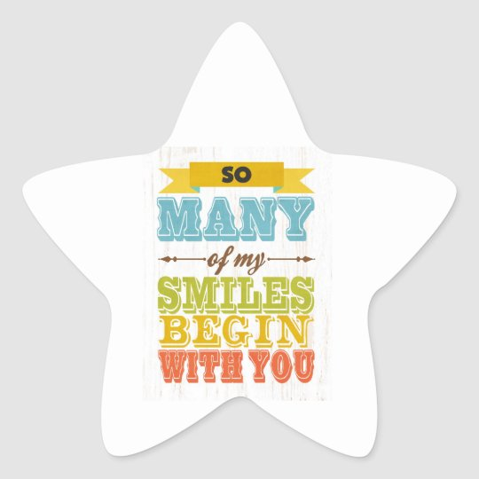 Inspirational Art - Smiles Star Sticker
