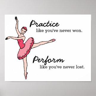 Inspirational Ballet Dancer Poster