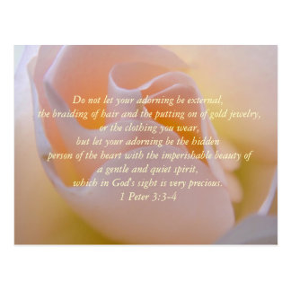 Inspirational Beauty Bible Verse Postcard