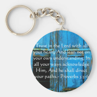 Inspirational Bible Quote Proverbs 3:5-6 Keychain