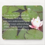 Inspirational Bible Quote Proverbs 3:5-6 Mouse Pad