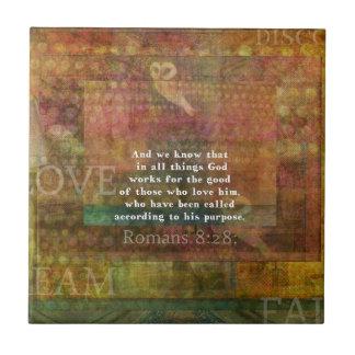 Inspirational Bible Verse Ceramic Tiles