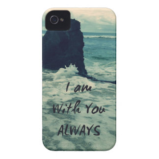 Inspirational Bible Verse I am With You Always iPhone 4 Cover