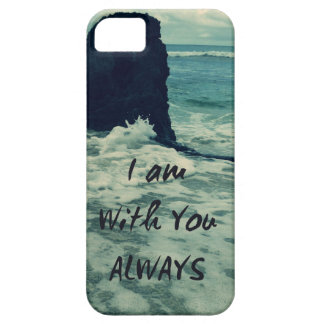 Inspirational Bible Verse I am With You Always iPhone 5 Covers