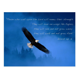 Inspirational Bible Verse Isaiah Post Card
