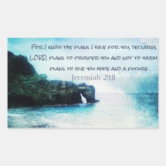 Inspirational Bible Verse Jeremiah 29:11 Sticker