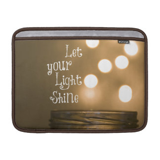 Inspirational Bible Verse Let your light shine Sleeves For MacBook Air
