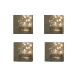 Inspirational Bible Verse Let your light shine Stone Magnets