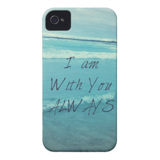 Inspirational Bible Verse ocean - I am With You Case-Mate iPhone 4 Cases