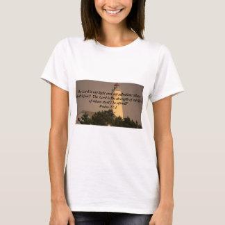 Inspirational Bible Verse on Lighthouse photo T-Shirt