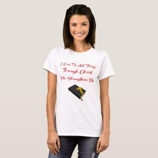 Inspirational Bible Verse. Philippians 4:13 T-Shirt