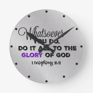 Inspirational Bible Verse Round Clock