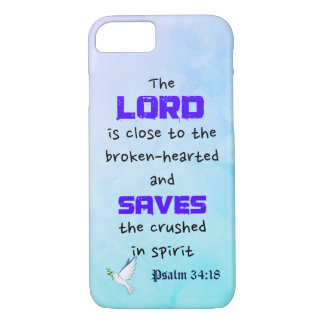 Inspirational Biblical Quote Psalm 34:18 iPhone 7 Case