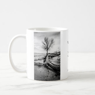 Inspirational Black and White Bare Tree Coffee Mug