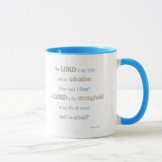 """Inspirational Blessings """"Psalm 27:1""""  Mug"""