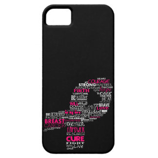 Inspirational Breast Cancer Awareness Ribbon iPhone 5 Case