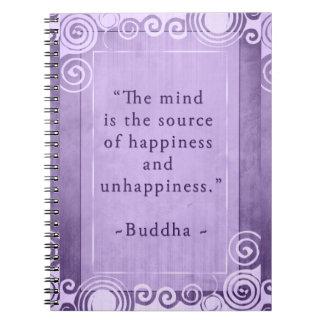 Inspirational Buddha Happiness Quote Notebooks