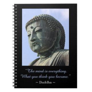 Inspirational Buddha Photo Quote Spiral Notebook