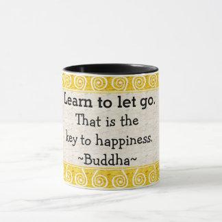 Inspirational Buddha Quote Typography Mug