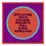 inspirational buddhist quote poster
