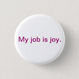 Inspirational button - joy
