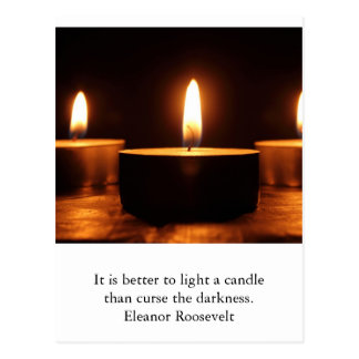 Inspirational card : light in darkness