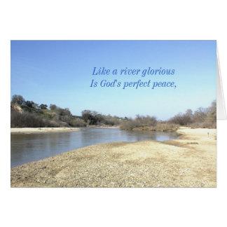 Inspirational card: Like a River Glorious Card