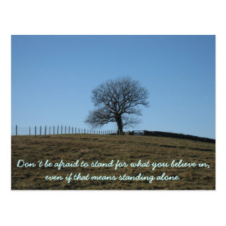 Inspirational card: Stand for what you believe in Postcard