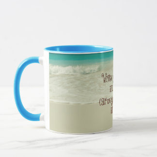Inspirational Carve your Blessings in Stone Quote Mug
