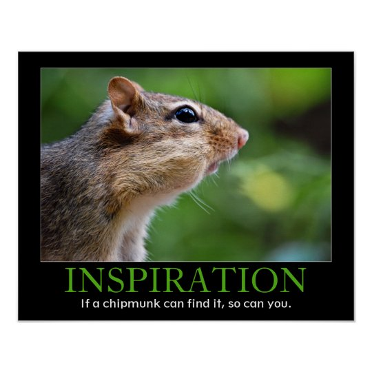 Inspirational Chipmunk Poster