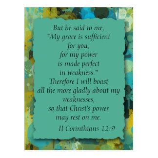 Inspirational Christian Bible God's Grace Postcard