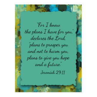 Inspirational Christian Bible God's Plan Postcard