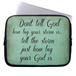 Inspirational Christian Quote Computer Sleeve