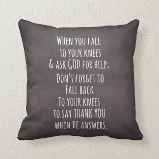 Inspirational Christian Quote Message Throw Pillow