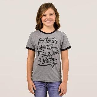 Inspirational Christmas Bible Verse | Ringer Shirt