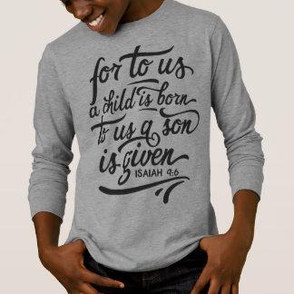 Inspirational Christmas Bible Verse | Sleeve Shirt