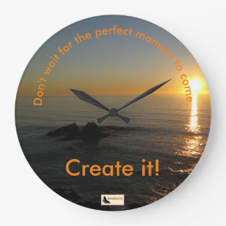 Inspirational Clock - Keep Moving