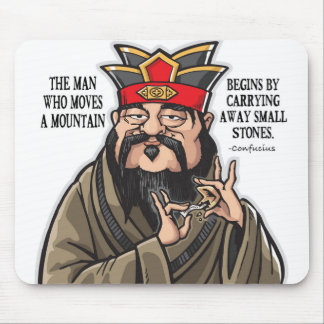 Inspirational Confucius quote mouse pad