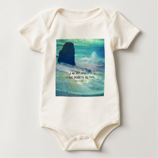 Inspirational courage quote JOAN OF ARC sea ocean Baby Bodysuit