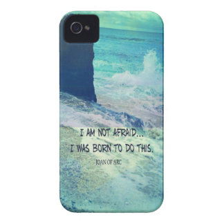 Inspirational courage quote JOAN OF ARC sea ocean iPhone 4 Covers