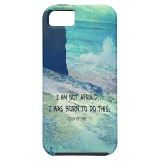 Inspirational courage quote JOAN OF ARC sea ocean iPhone 5 Case