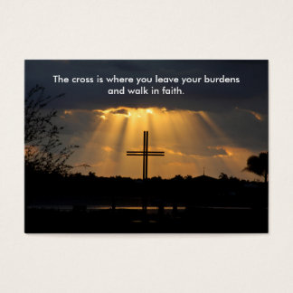 Inspirational Cross at Sunrise Business Cards