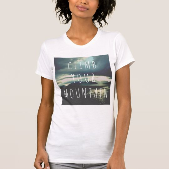 Inspirational customizable Tshirt with mountains
