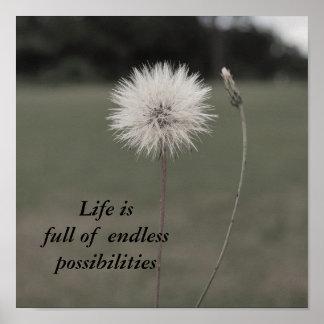 Inspirational Dandelion - Customiz... - Customized Poster