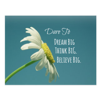 Inspirational Dare to Dream Big Quote Postcard