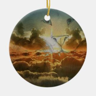 Inspirational designed products round ceramic ornament
