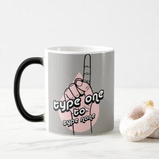 Inspirational Diabetes Quote-Type One to Type None Magic Mug