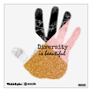 Inspirational Diversity is Beautiful Wall Decal