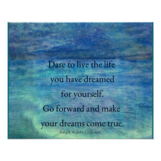Inspirational DREAM quote Poster