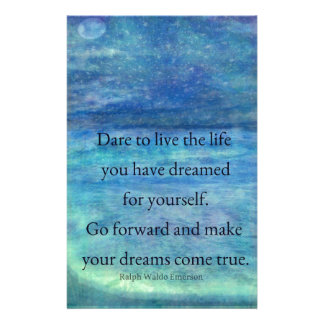Inspirational DREAM quote Stationery